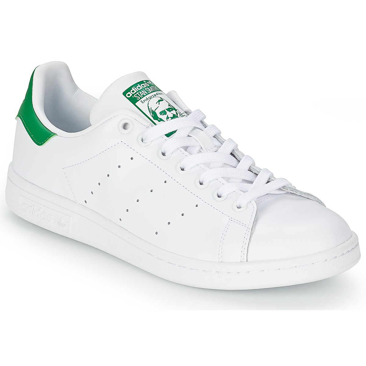 Lage sneakers adidas Originals STAN SMITH Wit / Groen - Gratis ...: www.spartoo.be/adidas-Originals-STAN-SMITH-x793843.php