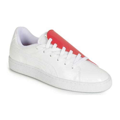 Schoenen Dames Lage sneakers Puma WN BASKET CRUSH.WH-HIBISCU Wit