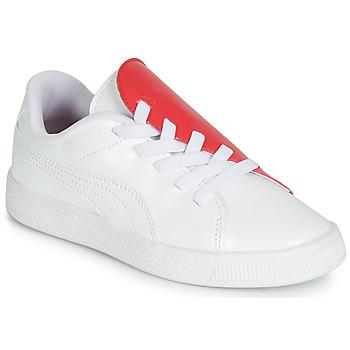 Schoenen Meisjes Lage sneakers Puma PS BKT CRUSH PATENT AC.W-H Wit