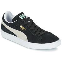 Schoenen Lage sneakers Puma SUEDE CLASSIC Zwart / Wit