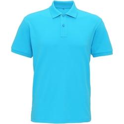 Textiel Heren Polo's korte mouwen Asquith & Fox  Turquoise