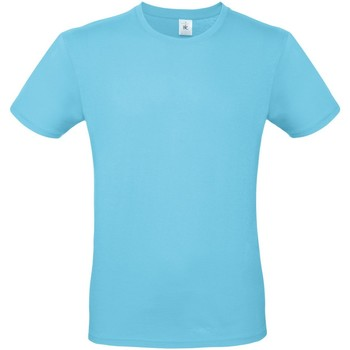 Textiel Heren T-shirts korte mouwen B And C E150 Turquoise