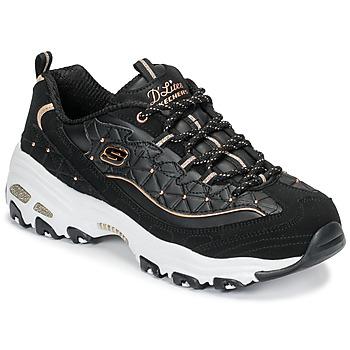 Schoenen Dames Lage sneakers Skechers D'LITES GLAMOUR FEELS Zwart