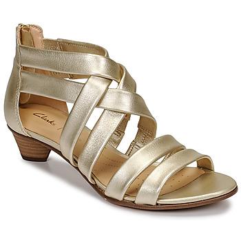Schoenen Dames Sandalen / Open schoenen Clarks MENA SILK Champagne