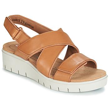 Schoenen Dames Sandalen / Open schoenen Clarks UN KARELY DEW Brown