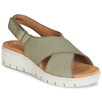 Schoenen Dames Sandalen / Open schoenen Clarks UN KARELY SUN Groen