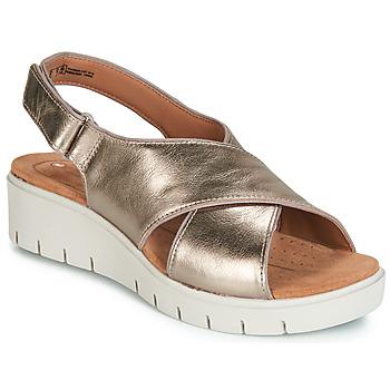 Schoenen Dames Sandalen / Open schoenen Clarks UN KARELY SUN Goud