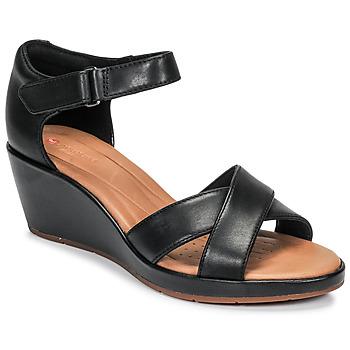 Schoenen Dames Sandalen / Open schoenen Clarks UN PLAZA CROSS Zwart