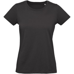 Textiel Dames T-shirts korte mouwen B And C Inspire Zwart