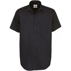 Textiel Heren Overhemden korte mouwen B And C Sharp Zwart