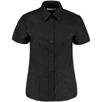 Textiel Dames Overhemden Kustom Kit Oxford Zwart