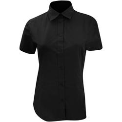 Textiel Dames Overhemden Kustom Kit Work Zwart