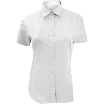 Textiel Dames Overhemden Kustom Kit Work Wit