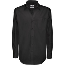 Textiel Heren Overhemden lange mouwen B And C Sharp Zwart