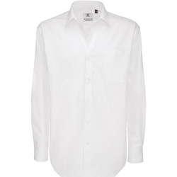 Textiel Heren Overhemden lange mouwen B And C Sharp Wit