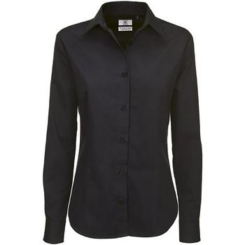 Textiel Dames Overhemden B And C Sharp Zwart