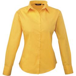 Textiel Dames Overhemden Premier Poplin Zonnebloem