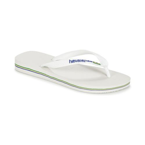 Schoenen Slippers Havaianas BRASIL LOGO Wit