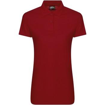Textiel Dames Polo's korte mouwen Pro Rtx RX05F Rood