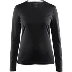 Textiel Dames T-shirts met lange mouwen Craft CT89F Zwart