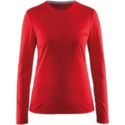 Textiel Dames T-shirts met lange mouwen Craft CT89F Rood