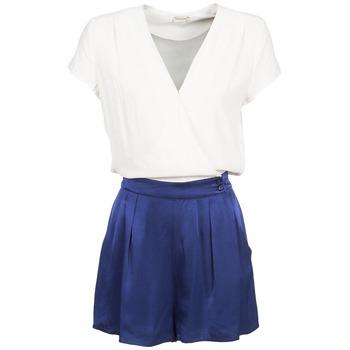 Textiel Dames Jumpsuites / Tuinbroeken Naf Naf KLOVIS Wit / Blauw