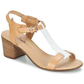 Schoenen Dames Sandalen / Open schoenen Betty London GANTOMI  CAMEL / Wit