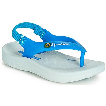 Schoenen Kinderen Sandalen / Open schoenen Ipanema ANATOMIC SOFT BABY Blauw / Wit