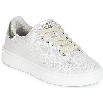 Schoenen Meisjes Lage sneakers Kappa SAN REMO KID Wit / Zilver