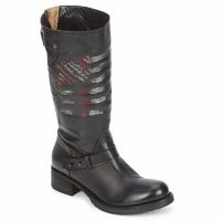 Schoenen Dames Laarzen Strategia ENRO Zwart / Imprimé / Flag