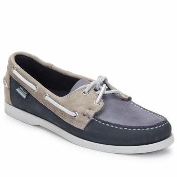 Schoenen Heren Bootschoenen Sebago SPINNAKER Navy / Wit / Blauw