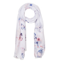 Accessoires Dames Sjaals André BUTTERFLY Wit