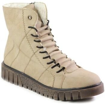 Schoenen Dames Laarzen Rieker Y342060 Beige