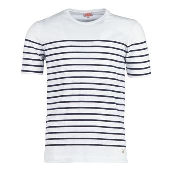 Textiel Heren T-shirts korte mouwen Armor Lux YAYALOUT Wit / Marine