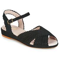 Schoenen Dames Sandalen / Open schoenen Miss L'Fire BRIGITTE Zwart