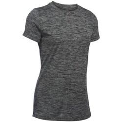 Textiel Dames T-shirts korte mouwen Under Armour Tech Twist Graphite