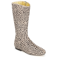 Schoenen Dames Hoge laarzen French Sole PATCH Leopard