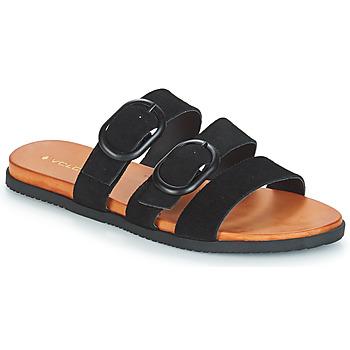 Schoenen Dames Leren slippers Volcom BUCKLE UP BUTTERCUP Zwart