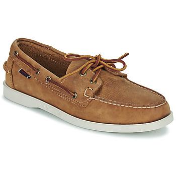 Schoenen Heren Bootschoenen Sebago DOCKSIDES PORTLAND CRAZY H Brown