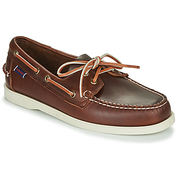 Schoenen Heren Bootschoenen Sebago DOCKSIDES PORTLAND WAXED Brown