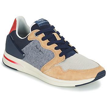 Schoenen Heren Lage sneakers Pepe jeans JAYKER DUAL D LIMIT Blauw / Beige