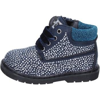 Schoenen Meisjes Enkellaarzen Asso polacchini blu camoscio strass BT297 Blu