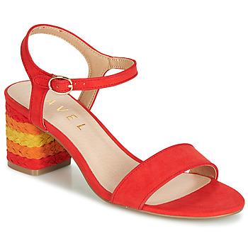 Schoenen Dames Sandalen / Open schoenen Ravel CLEMONT Orange