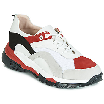 Schoenen Dames Lage sneakers Tosca Blu KELLY Wit / Rood