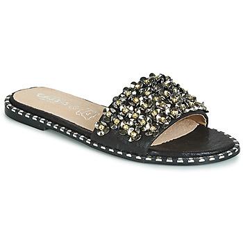 Schoenen Dames Leren slippers Cassis Côte d'Azur ALVINA Zwart