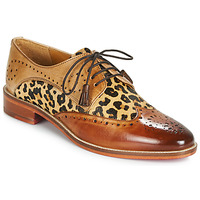 Schoenen Dames Derby Melvin & Hamilton BETTY-4 Brown / Leopard