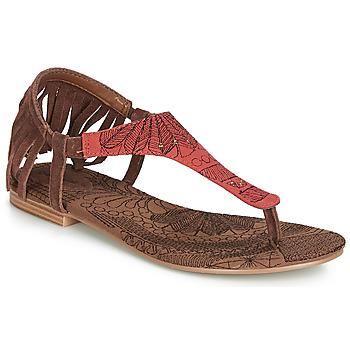 Schoenen Dames Sandalen / Open schoenen Desigual SHOES_LUPITA_LOTTIE Cognac / Rood