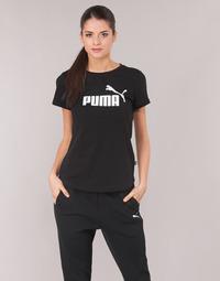 Textiel Dames T-shirts korte mouwen Puma PERMA ESS TEE Zwart