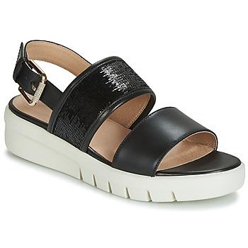 Schoenen Dames Sandalen / Open schoenen Geox D WIMBLEY SANDAL Zwart