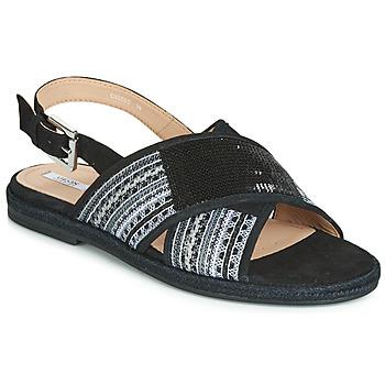 Schoenen Dames Sandalen / Open schoenen Geox D KOLEEN Zwart